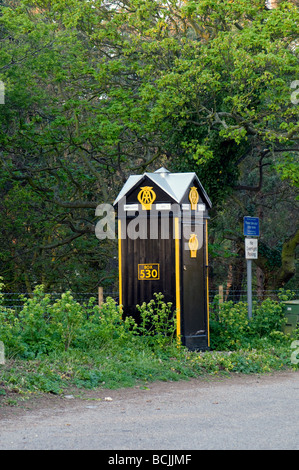 AA Box 530 situated in a layby just outside the village Brancaster Norfolk England - Stock Photo