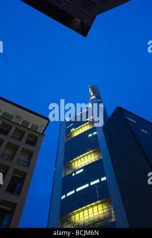 Germany, Hessen, Frankfurt-am-Main, Commerzbank Tower - Stock Photo