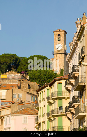 France. Provence-Alpes-Côte d'Azur. Cannes. Old Town Le Suquet. - Stock Photo