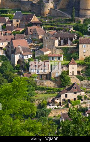 Chateau de Castelnaud, Castelnaud, Dordogne, France - Stock Photo