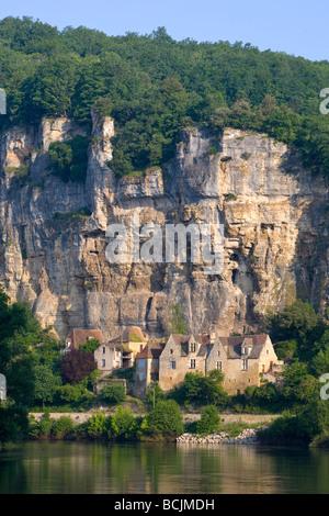 La Roque-Gageac, Dordogne, Aquitaine, France - Stock Photo
