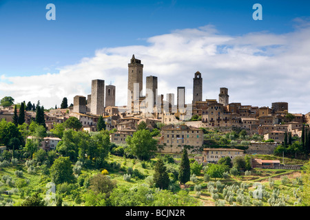 San Gimignano, Tuscany, Italy, RF - Stock Photo