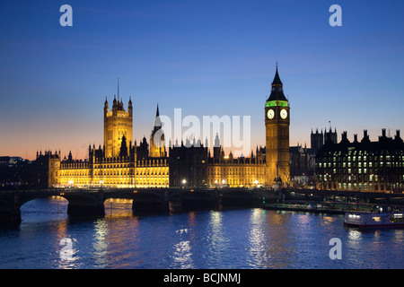 Big Ben & Houses of Parliament, London, England - Stock Photo