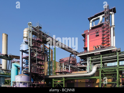 Furnace at ThyssenKrupp Steel AG Duisburg - Stock Photo