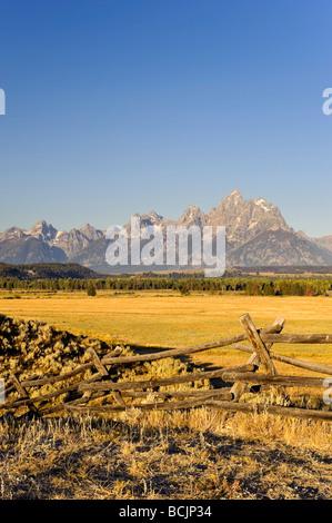 Teton Mountain Range, Grand Teton National Park, Wyoming, USA - Stock Photo
