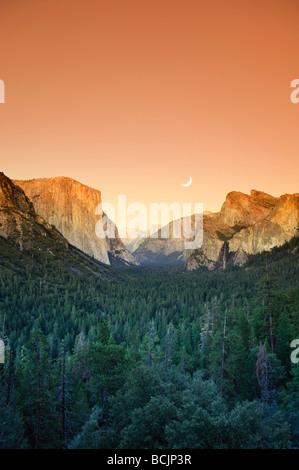 USA, California, Yosemite National Park, Yosemite Valley, Tunnel View Stock Photo