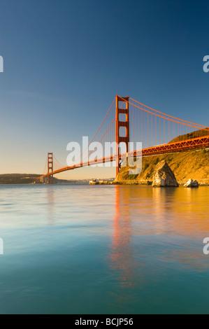 USA, California, San Francisco, Golden Gate Bridge - Stock Photo