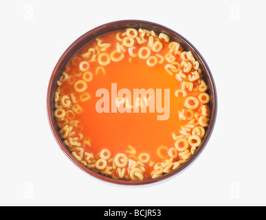 Play in spaghetti letters - Stock Photo