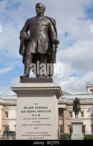 The statue of Major General Sir Henry Havelock KCB in trafalgar square in London