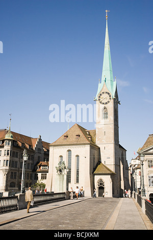 Fraumunster in zurich - Stock Photo