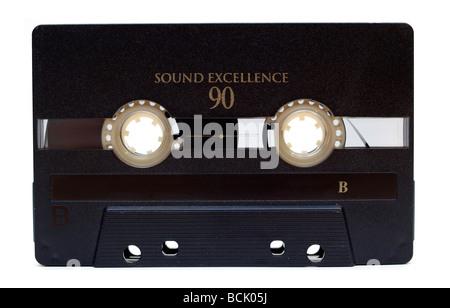 old audio tape on white background - Stock Photo