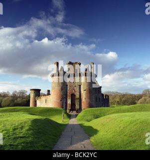 Caerlaverock Castle, Solway Coast, Dumfries and Galloway, Scotland - Stock Photo