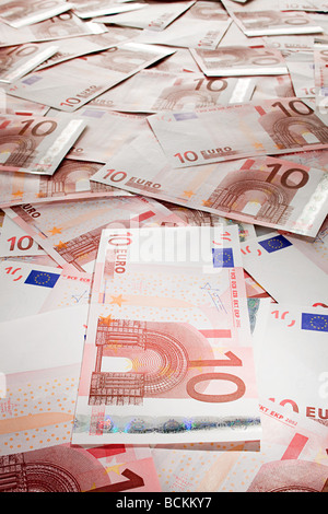 Ten euro banknotes - Stock Photo