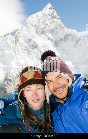Couple in the himalayas - Stock Photo