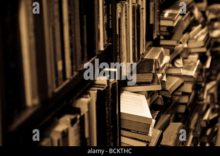 Books in Gould's secondhand bookshop on King Street Newtown Sydney NSW Australia - Stock Photo