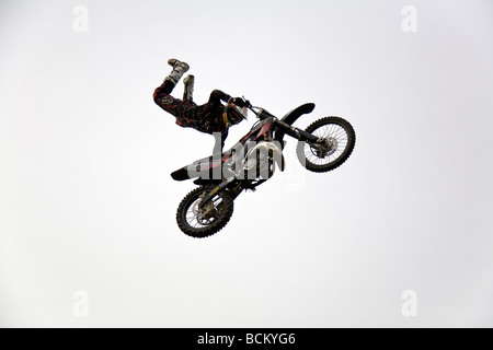 UK FMX Freestyle Motocross Rider - Stock Photo