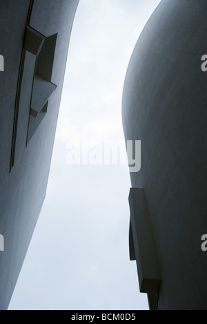 Architectural shot, curved buildings, view from directly below - Stock Photo