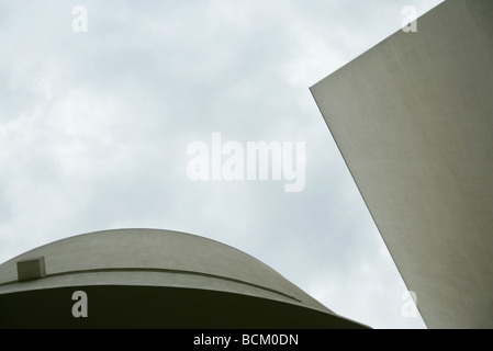 Architectural shot, concrete buildings, low angle view - Stock Photo