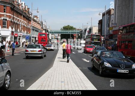 Brixton Road, South London - Stock Photo