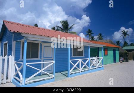 Saona island village, Dominican Republic, Caribbean - Stock Photo