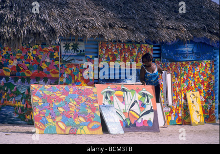 Local Art For Sale At The Beach Market Sosua Puerto