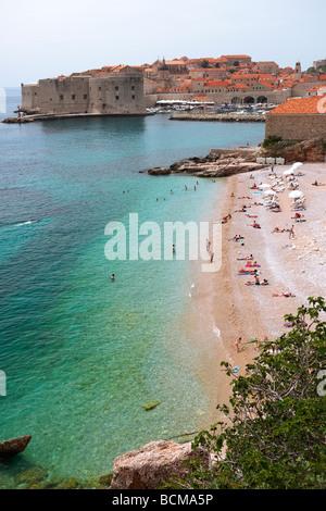Town Beach of Dubrovnik - Croatia - Stock Photo