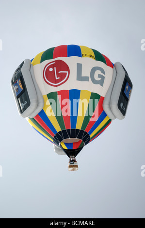 LG balloon 2006 Chateau d Oex Hot Air Balloon Festival Switzerland Europe - Stock Photo