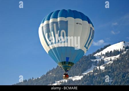 Kuko balloon 2006 Chateau d Oex Hot Air Balloon Festival Switzerland Europe - Stock Photo