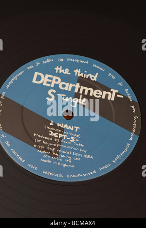 12 inch record single by Department S punk new wave band in 1981 called I want produced by Stiff  Records - Stock Photo