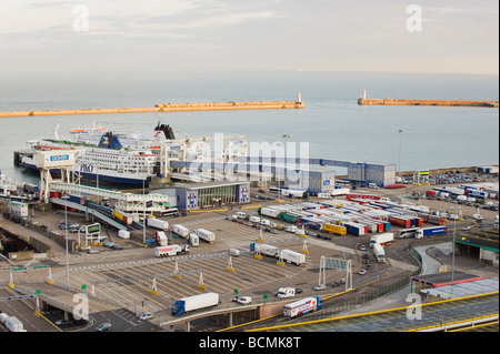 Eastern docks and Ferry Port Dover Kent UK - Stock Photo