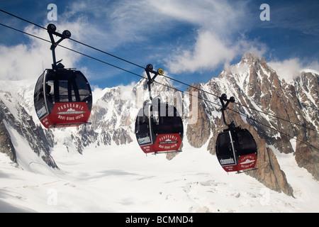 Mont Blanc Panoramic Cableway,  Alps - Stock Photo
