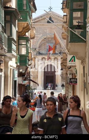 St Johns co cathedral Valletta malta - Stock Photo