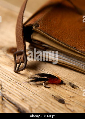 Artificial fly - fly fishing - Stock Photo