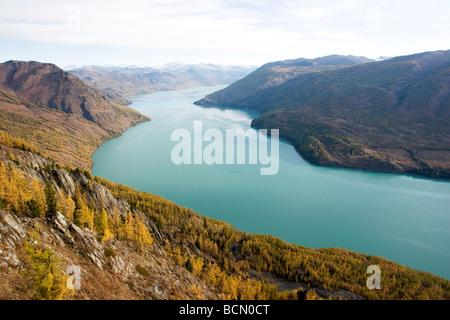 Kanas Lake, Kanas Conservation, Xinjiang Uyghur Autonomous Region, China - Stock Photo