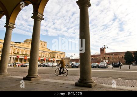 Piazza Martiri della Libertà Novara Italy - Stock Photo