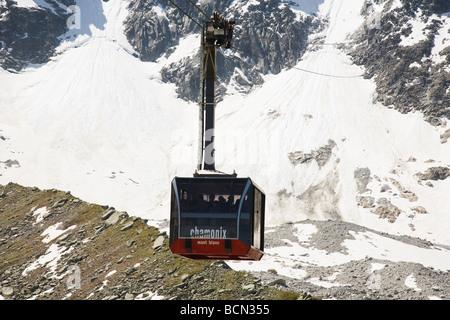 Aiguille du Midi Cable Car - Stock Photo