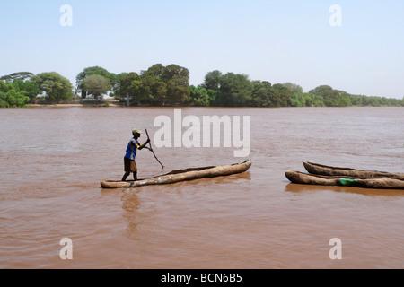 ethiopia omo valley omorate omo river - Stock Photo