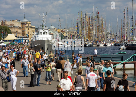 TALL SHIP S RACES St Petersburg Russia July 11 14 2009 - Stock Photo