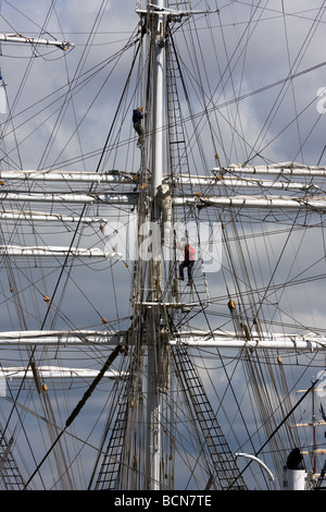 CHRISTIAN RADICH sail ship Norway during TALL SHIP S RACES St Petersburg Russia July 11 14 2009 - Stock Photo