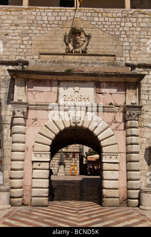 Old gate in the town of Kotor - Stock Photo