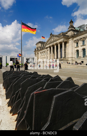 Berlin Germany The Reichstag Building Memorial to the 96 Reichstag members of opposition parties murdered by the - Stock Photo