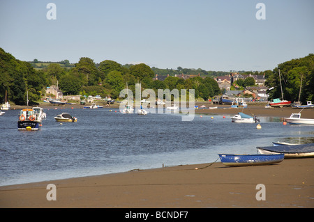 Moorings on R Teifi - Stock Photo