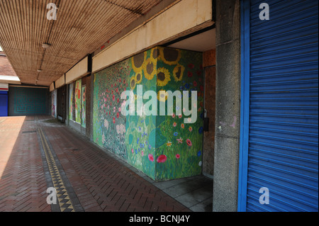 Business premises lie empty in Freeman street in Grimsby, it used to be the town's main shopping area - Stock Photo
