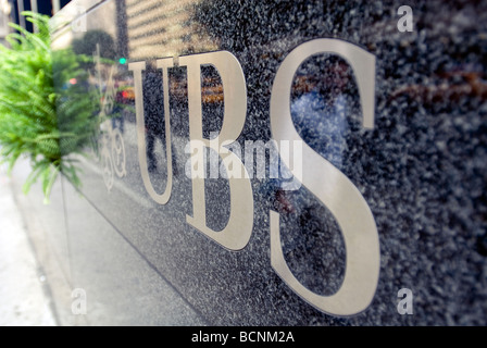 The New York Headquarters Of Swiss Banking Giant Ubs Stock Photo