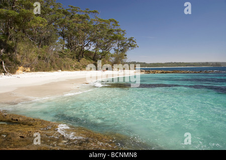 Beach at Bristol Point near Green Patch Beach Booderee National Park Jervis Bay Territory Australia - Stock Photo