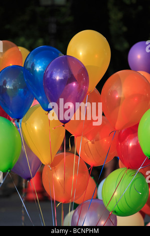 Balloons tied with string. - Stock Photo