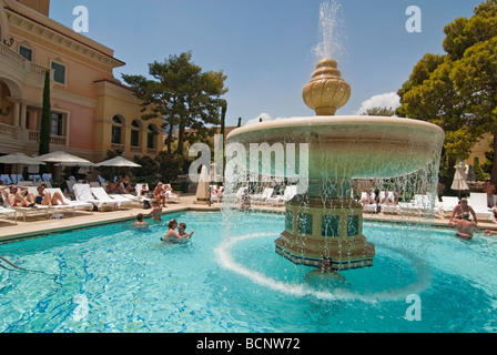 Luxurious Swimming Pool Of The Bellagio Resort And Casino
