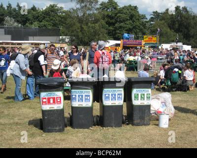 recycling bins at Latitude 2009 - Stock Photo