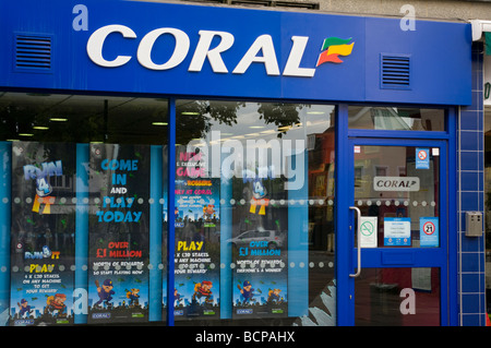 Coral Bookmakers Building - Stock Photo