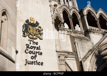 Royal Courts of Justice London Fleet Street - Stock Photo